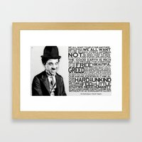 The Mute Dictator Framed Art Print