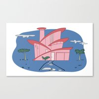 Pink Panther's Modern Ho… Canvas Print