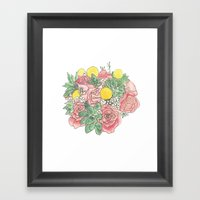 Succulent Watercolor Bou… Framed Art Print