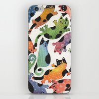 12 cats iPhone & iPod Skin