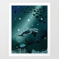Dolphin Dream  Art Print