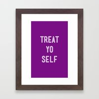 Treat Yo Self Purple - Parks and Recreation Framed Art Print