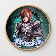 I Should Go (color) Wall Clock