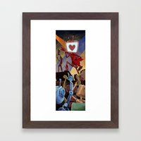 Rock Band Robot Framed Art Print
