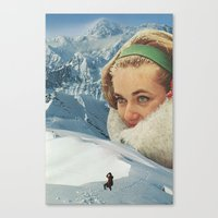 A Request for Snow Canvas Print