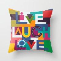 C13 LIVELAUGHLOVE V2 Throw Pillow