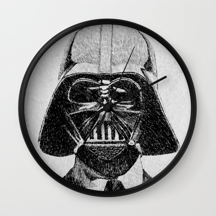 Darth Vader Portrait Wall Clock By Nicolas Jolly Society6