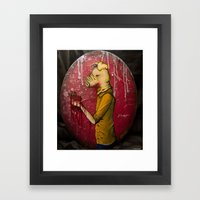 What's Yours Is MINE ( Pig) Framed Art Print