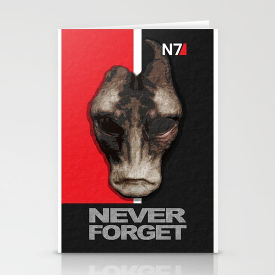 NEVER FORGET - Mordin Solus- Mass Effect Stationery Card