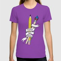Creativity Takes Courage Womens Fitted Tee Ultraviolet SMALL