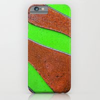 iPhone Cases featuring Green Rust by The Bird Seed