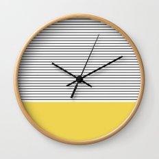 MINIMAL Green Stripes Wall Clock