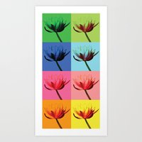 Flowers, Warhol Style Art Print