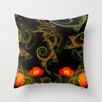 Decorative Poppy Throw Pillow