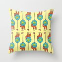 The syringe of happiness Throw Pillow