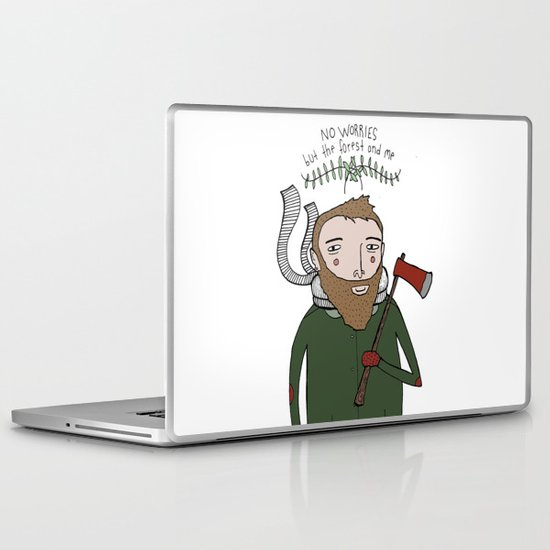No Worries Woodsman Laptop & iPad Skin