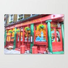 The Rising Sun Pub London Canvas Print