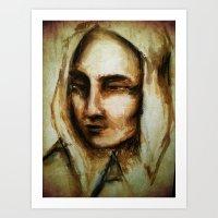 Petronella - Mixed Media… Art Print