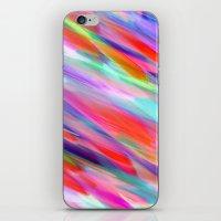 Colorful digital art splashing G399 iPhone & iPod Skin