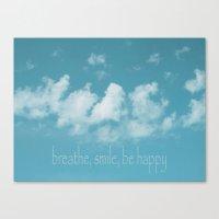 Blue Sky Meditation Canvas Print