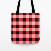 Red squares Tote Bag
