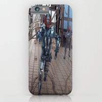 iPhone Cases featuring Charging Forward by Michael Lenehan