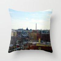 Washington DC Rooftops Throw Pillow