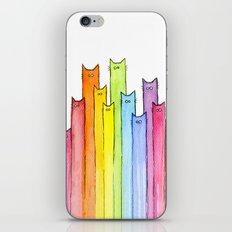 Rainbow of Cats iPhone & iPod Skin
