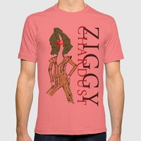 Ziggy Chardust Mens Fitted Tee Pomegranate SMALL