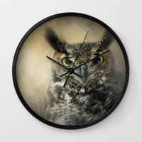 Golden Eyes Wall Clock