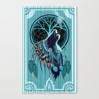 Wolf Indian Shaman Canvas Print