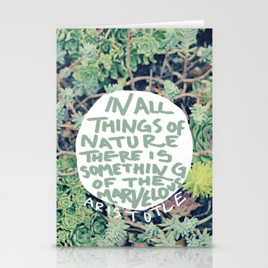 Aristotle: Nature Stationery Card