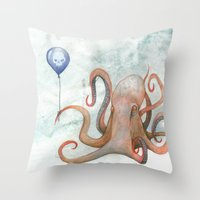 doom balloon Throw Pillow