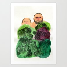 Shy Guys Art Print