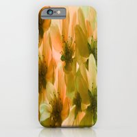 iPhone Cases featuring Orange Blossom Abstract by Judy Palkimas