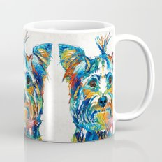 Colorful Yorkie Dog Art - Yorkshire Terrier - By Sharon Cummings Mug