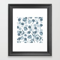 Paint it Blue Framed Art Print