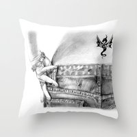 My Favorite Jeans Throw Pillow