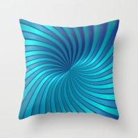 Blue Spiral Vortex G213 Throw Pillow