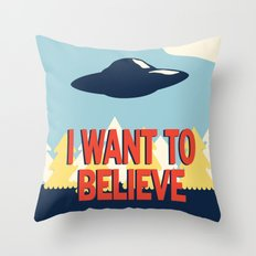 Jenni's Prints X-Files! … Throw Pillow