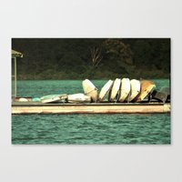 Boats On The Dock Canvas Print