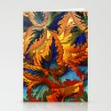 colorful foliage Stationery Cards