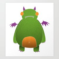 Green Monster Art Print