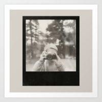 Camera Girl. Art Print