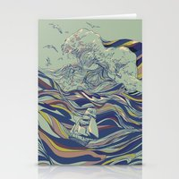 ocean Stationery Cards featuring OCEAN AND LOVE by Huebucket