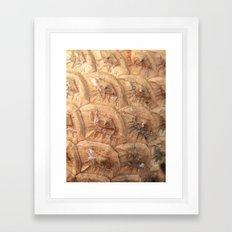 Pine cone pattern Framed Art Print