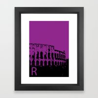 Rome R Framed Art Print