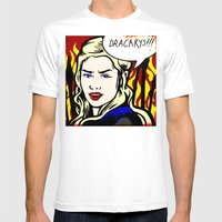 Dracarys! Mens Fitted Tee White SMALL