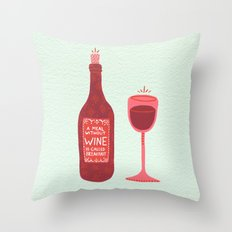 Wine Throw Pillow