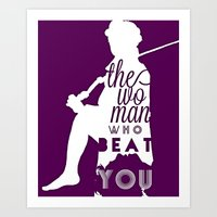 Beat You Art Print